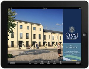 Sample Crest Nicholson iPad App Screen 1
